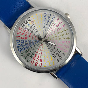 Crayo Accessories - Crayo Fortune Rainbow Dial Blue Band Silver Watch